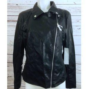 New Bagatelle Black Vegan Leather Moto Jacket